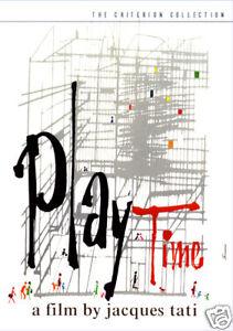 Playtime Jacques Tati vintage movie poster