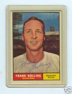 1961-TOPPS-335-FRANK-BOLLING-AUTOGRAPH-AUTO-BRAVES