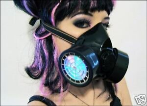 LED-Gas-Mask-Rave-Cyber-Goth-Clothes-Wear-Lights-Up-UV