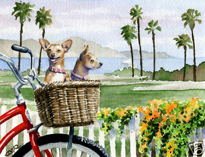 CHIHUAHUA Dog Watercolor Painting 8 x 10 ART Print Signed by Artist DJR
