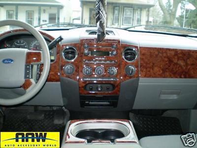 ford f 150 f150 interior wood dash trim kit xl xlt stx 2004 2005 2006 2007 2008 ebay. Black Bedroom Furniture Sets. Home Design Ideas