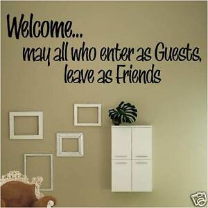 Welcome May All Leave As Friends Wall Decal Home Decor Ebay