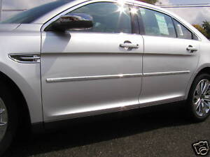 FORD-TAURUS-ALL-Painted-Body-Side-Mouldings-With-Chrome-Insert-Trim-2010-2013