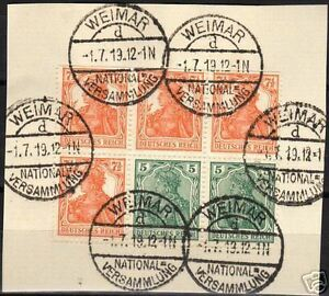 Reich-1919-MI-H-Blatt-20-on-paper-CANC-VF