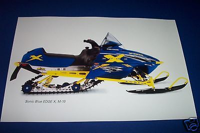 POLARIS EDGE X SNOWMOBILE POSTER tx