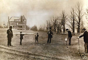 First-Photograph-of-Golf-in-the-USA-1888-RARE-13-x-19