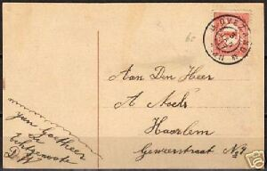 Netherlands 1917 PPC cancelled OVEZAND VF