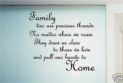 FAMILY POEM QUOTE STICKER WALL ART BEDROOM KITCHEN | eBay