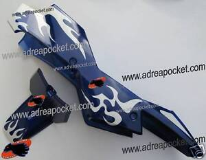 kit car nage bleu blanc pocket bike supermotard 49cc ebay. Black Bedroom Furniture Sets. Home Design Ideas