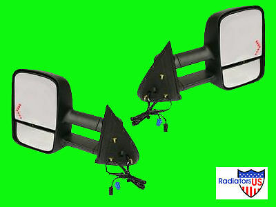 2003 2004 2005 CHEVY GMC TOWING MIRRORS W/ SIGNAL PAIR 3500 HD EXTENDING NEW