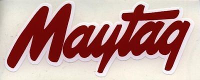 Maytag Engine & Washer Decal Red And White