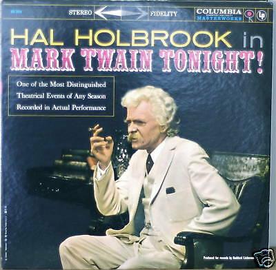 HAL HOLBROOK: Mark Twain Tonight-M1960?LP GRAY 2-EYE