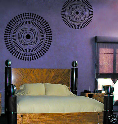 Funky Wheel Wall Stencil - Large - Reusable Stencils For Easy Diy Wall Decor