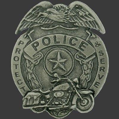 Biker Police Badge Pin Police Pin