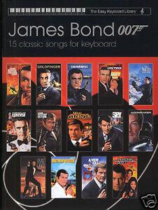 James bond easy keyboard library amp voice soundtracks sheet music book