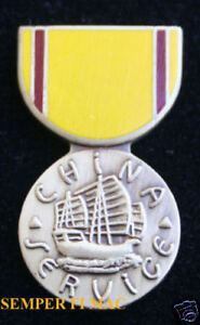 CHINA-SERVICE-MEDAL-HAT-PIN-US-NAVY-MARINES-COAST-GUARD-USS-FMF-MAR-DIV-WING-MAW