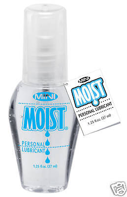 Mini Moist Personal Lubricant Water Based Lube 1.25 Oz Moist Is Crystal Clear
