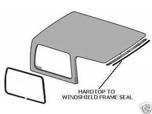 jeep yj hard top jeep cj cj7 7 wrangler yj new hardtop hard top to windshield frame seal