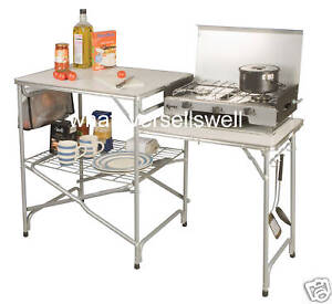 FOLDING CAMPING KITCHEN side table stand field camp