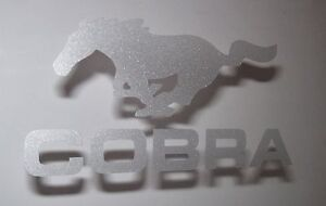 Ford Mustang PONY COBRA Etched Glass Vinyl Sticker Logo Decal Graphic Set of 2