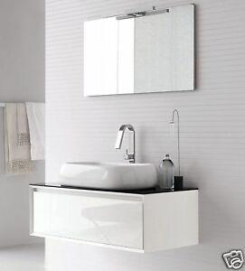 Mobile bagno moderno sospeso vari colori ar45 bianco - Colori bagno moderno ...