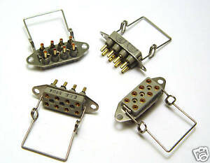 4x-Fassung-fur-8-Pin-Miniatur-Relais-MIL-Relay-Sockets-Relaisfassung