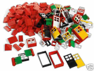 Lego 278 Pieces 4+ Doors Window and Roof Tiles 9386 Education