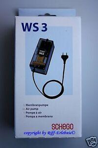 Schego Membranpumpe WS3 Luftpumpe 350l/h regelbar WS 3