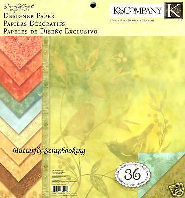 Nature Susan Winget Scrapbooking 12x12 Paper Pad 36 Sheets K&company