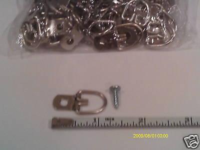 100  D Ring Picture Hangers / 100 SCREWS triangle HANGER medium