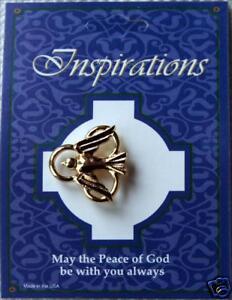 Trinity-Symbol-amp-Peace-Dove-Gold-Lapel-Pin-Badge-Button