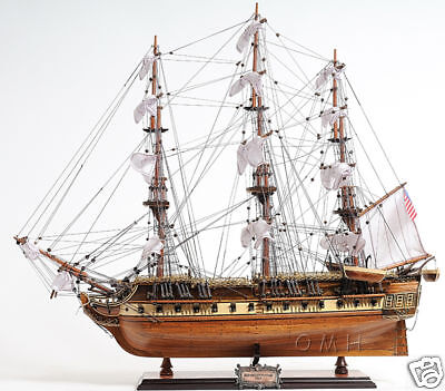 "USS Constitution Wooden Tall Ship Model 31"" Old Ironsides Fully Assembled New"