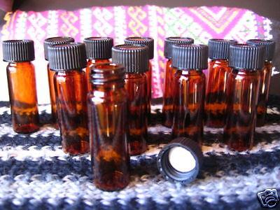 Lot-20-4mL-AMBER-GLASS-VIALS-Bottles-screwcap-type-essential-oils-flower-water