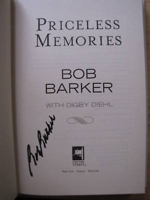 Priceless Memories By Bob Barker Signed W/ Photo Proof