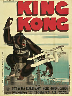 King Kong Fay Wray 1933 cult movie poster print