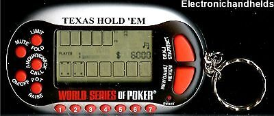 TEXAS HOLD EM WORLD SERIES OF POKER KEYCHAIN LCD GAME KEY RING CHAIN POCKET -