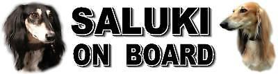 SALUKI ON BOARD Car Sticker By Starprint