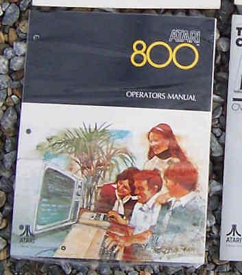 800 Operators Manual New original Atari