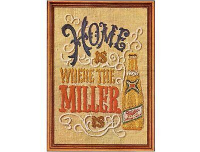 1970's Miller Beer Needlepoint Ad Refrigerator Magnet