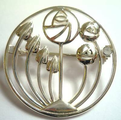 Sterling Silver Flowers/buds Brooch B17890