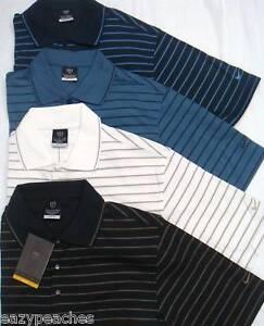 NIKE-GOLF-Mens-SMALL-X-SMALL-Dri-Fit-Striped-Polo-Shirts-BLACK-SLATE-WHITE