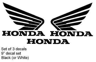 9 Honda Wing Decal Sticker Set Moto Bike Racing