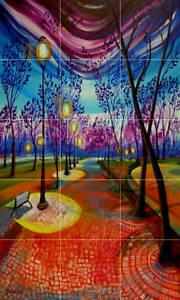 Art-Mural-Ceramic-Light-Trees-Backsplash-Bath-Tile-646