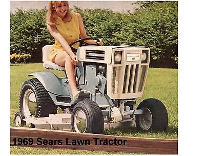 1969 Sears Lawn Tractor Novelty Refrigerator / Tool Box Magnet