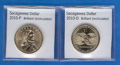 Used, Sacagawea Dollars: 2010-P and 2010-D from Mint Rolls for sale  Natick
