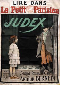 Georges-Franjus-Judex-vintage-French-movie-poster