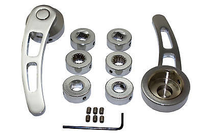 Billet Chrome Aluminum Door 4-1/4 Handle Kit Rat Rod Hot Rod Custom