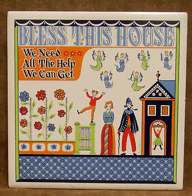 Wall Decor Ceramic Tile Bless This House Colorful