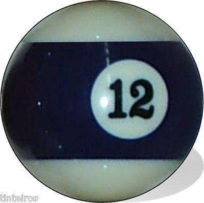 No 12 Pool Ball Single Replacement Twelve Free Ship