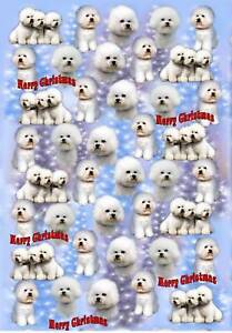 Bichon-Frise-Christmas-Wrapping-Paper-By-Starprint-Auto-combined-postage